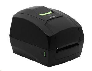 Custom TT/DT tiskárna etiket D4 202, 203dpi, USB/RS232, display, ethernet, černá