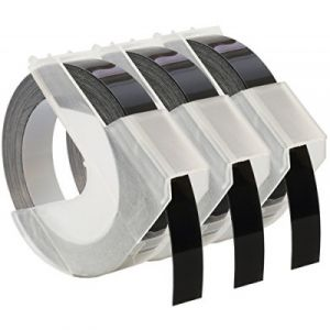 Kompatibilní páska s DYMO 3D S0847730 3ks Do tiskárny OMEGA bílí tisk/černý podklad 3m/9mm