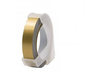 Kompatibilní páska s DYMO 3D Gold Do tiskárny OMEGA bílí tisk/zlatý podklad 3m/9mm