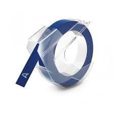 Kompatibilní páska s DYMO 3D S0898140 Do tiskárny OMEGA bílí tisk/modrý podklad 3m/9mm
