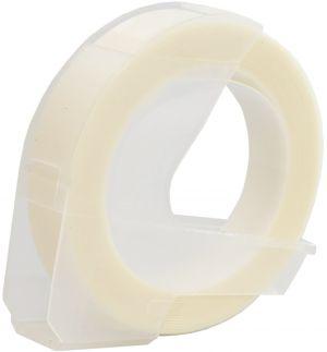 Kompatibilní páska s DYMO 3D CLEAR Do tiskárny OMEGA bílí tisk/průhledná 3m/9mm