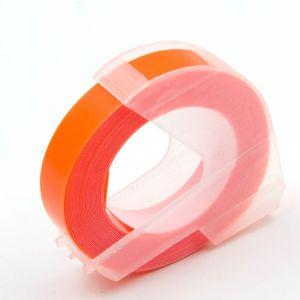 Kompatibilní páska s DYMO 3D ORANGE Do tiskárny OMEGA bílí tisk/oranžový podklad 3m/9mm