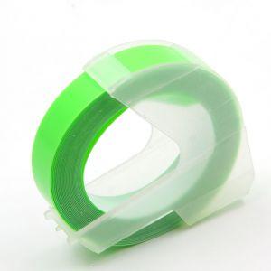 Kompatibilní páska s DYMO 3D GREEN Do tiskárny OMEGA bílí tisk/zelený podklad 3m/9mm