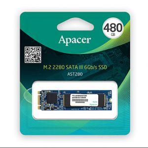 Interní disk SSD Apacer M.2 SATA III, M.2 SATA III, 480GB, AST280, AP480GAST280-1 černý, 4