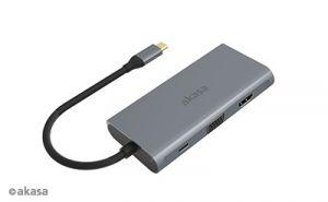 AKASA - externí USB hub - USB typ-C na 9-in-1