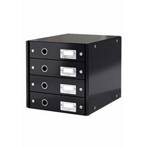 Zásuvkový box Leitz Click&Store, 4 zásuvky, černá