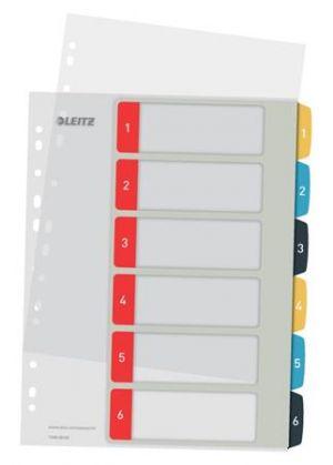 Celoplastové rejstříky Leitz Cosy A4 popisovatelné na počítači 1-12