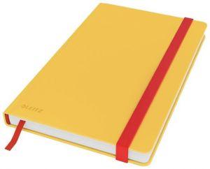 Zápisník Leitz Cosy hebké tvrdé desky, vel. M, linkovaný, teplá žlutá