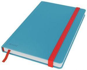 Zápisník Leitz Cosy hebké tvrdé desky, vel. M, linkovaný, klidná modrá
