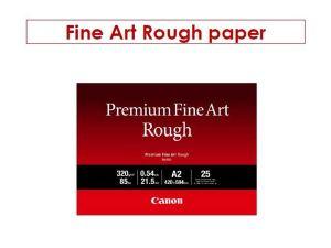 Canon fotopapír Premium FineArt Rough A2 25 sheets