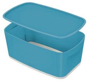 Úložný box s víkem Leitz MyBox Cosy, velikost S, klidná modrá