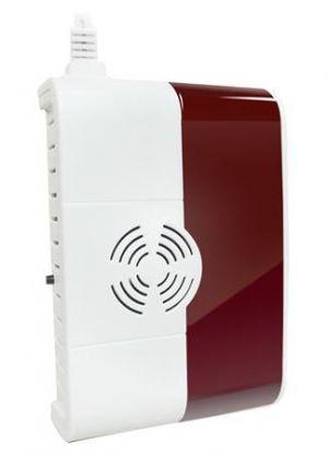 iGET SECURITY P6 - Bezdrátový detektor plynu, vestavěná světelná a zvuková signalizace, pr