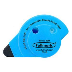 Lepicí roller permanent, fluorescentní modrý, 6mm x 18m, Fullmark