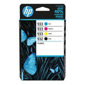 HP 932 Black / 933 CMY Original Ink Cartridge 4-Pack