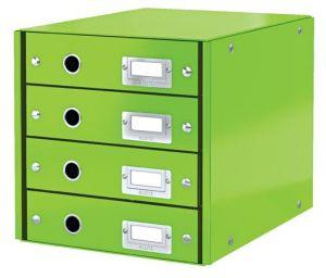 Zásuvkový box Leitz Click&Store, 4 zásuvky, zelená