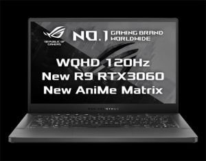 "ASUS GA401QM-AniMe023T 14"" QHD/IPS/120Hz/AMD Ryzen 9/2x16GB/1TB SSD/RTX3060  6GB/Win 10 H"