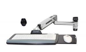 ERGOTRON LX Sit-Stand Keyboard Arm, POLISHED, flexibilní držák na zeď pro klávesnici a myš