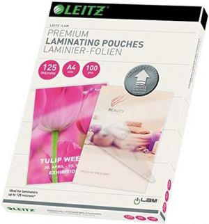 Laminovací kapsy Leitz A4 se směrovací technologií, 125 mic (25ks)