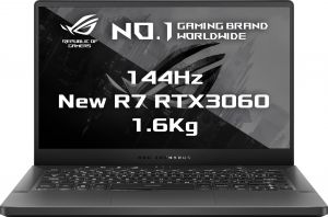 "ASUS GA401QM-HZ011T 14"" FHD/IPS/144Hz/AMD Ryzen 7/2x8GB/1TB SSD/RTX 3060 6GB/Win 10 Home/Š"