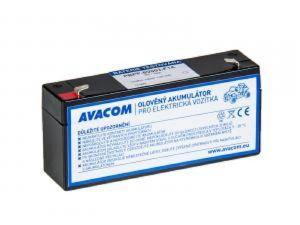 AVACOM Náhradní baterie (olověný akumulátor) 6V 3Ah do vozítka Peg Pérego F1