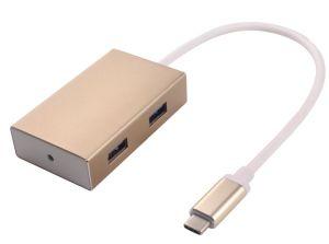 PREMIUMCORD USB3.1 hub 4x USB3.0 hliníkové pouzdro