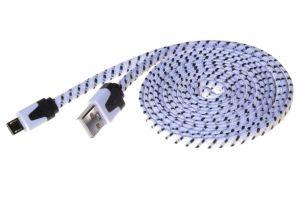 PREMIUMCORD Kabel micro USB 2.0, A-B 2m, plochý
