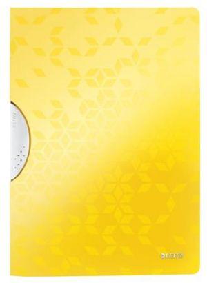 Desky s klipem Leitz WOW, PP, žlutá