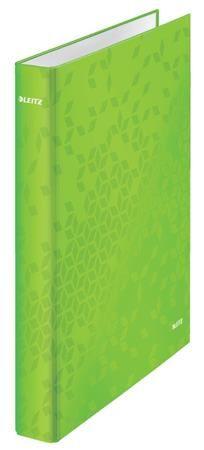 Kroužkový pořadač Leitz WOW, A4+, 2DR/25mm, zelená