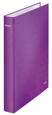 Kroužkový pořadač Leitz WOW, A4+, 2DR/25mm, purpurová