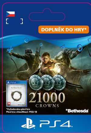 ESD CZ PS4 - The Elder ScrollsR Online: 21000 Crowns