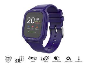 "iGET KID F10 Violet - Dětské hodinky s hrami/1,4"" displej/240x240px/128 kb RAM + 128 MB RO"